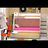 Двухъярусная кровать с дополнительным спальным местом КЧТ 104 Fmebel