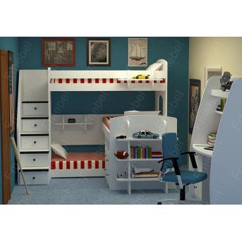 Двухъярусная кровать с дополнительным спальным местом КЧТ 106 Fmebel