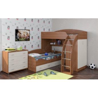 Кровать-чердак двухместная КЧД 103 Fmebel