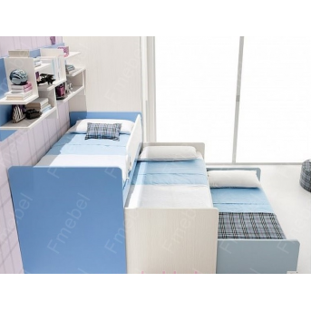Двухъярусная кровать с дополнительным спальным местом Стокгольм Fmebel