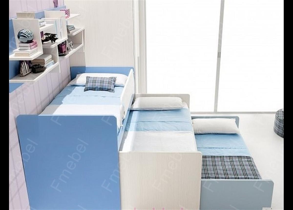 Двухъярусная кровать с дополнительным спальным местом КЧТ 101 Fmebel
