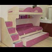 Двухъярусная кровать с дополнительным спальным местом Нью-Йорк Fmebel