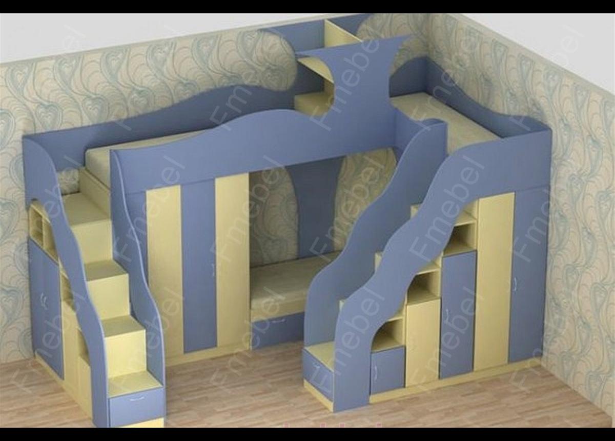 Двухъярусная кровать с дополнительным спальным местом КЧТ 105 Fmebel