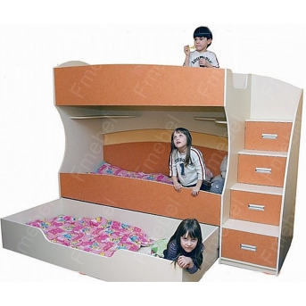 Двухъярусная кровать с дополнительным спальным местом Катманду Fmebel