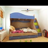 Двухъярусная кровать с дополнительным спальным местом КЧТ 111 Fmebel