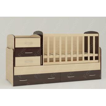 Кроватка-трансформер для новорожденных Afina 60х120 Fmebel