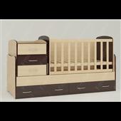 Кроватка-трансформер для новорожденных Afina 70х180 (60x120) Fmebel