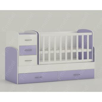 Кроватка-трансформер для новорожденных Maya 60х120 Fmebel