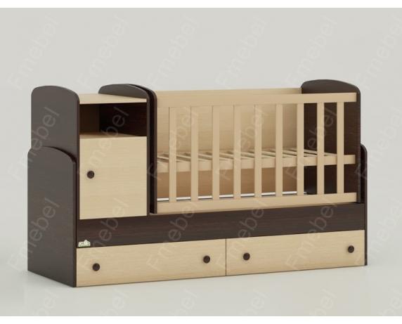 Кроватка-трансформер для новорожденных Marica 60х170 (60x120) Fmebel