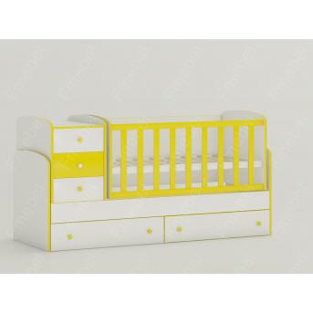 Кроватка-трансформер для новорожденных Maya New 60x120 Fmebel