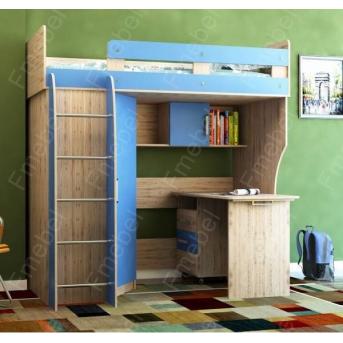 Кровать-чердак со столом КЧО 168 Fmebel