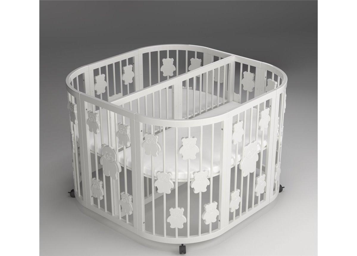 Кроватка круглая для двойни 125х125  Fmebel