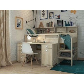 Кровать-чердак со столом КЧО 149 Fmebel