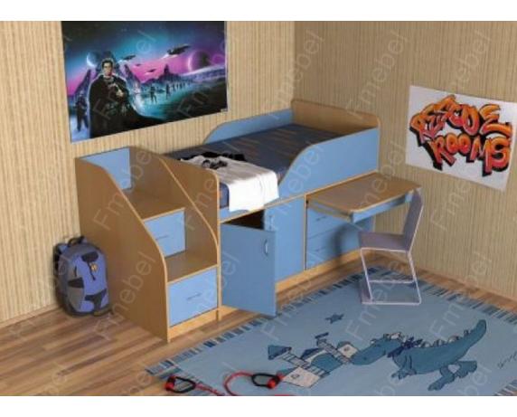 Кровать-чердак низкая МКЧ 104 Fmebel