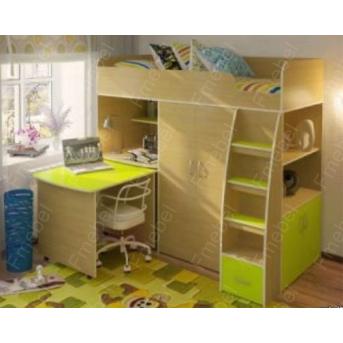 Кровать-чердак со столом КЧО 157 Fmebel