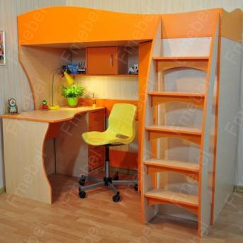 Кровать-чердак со столом КЧО 115 Fmebel