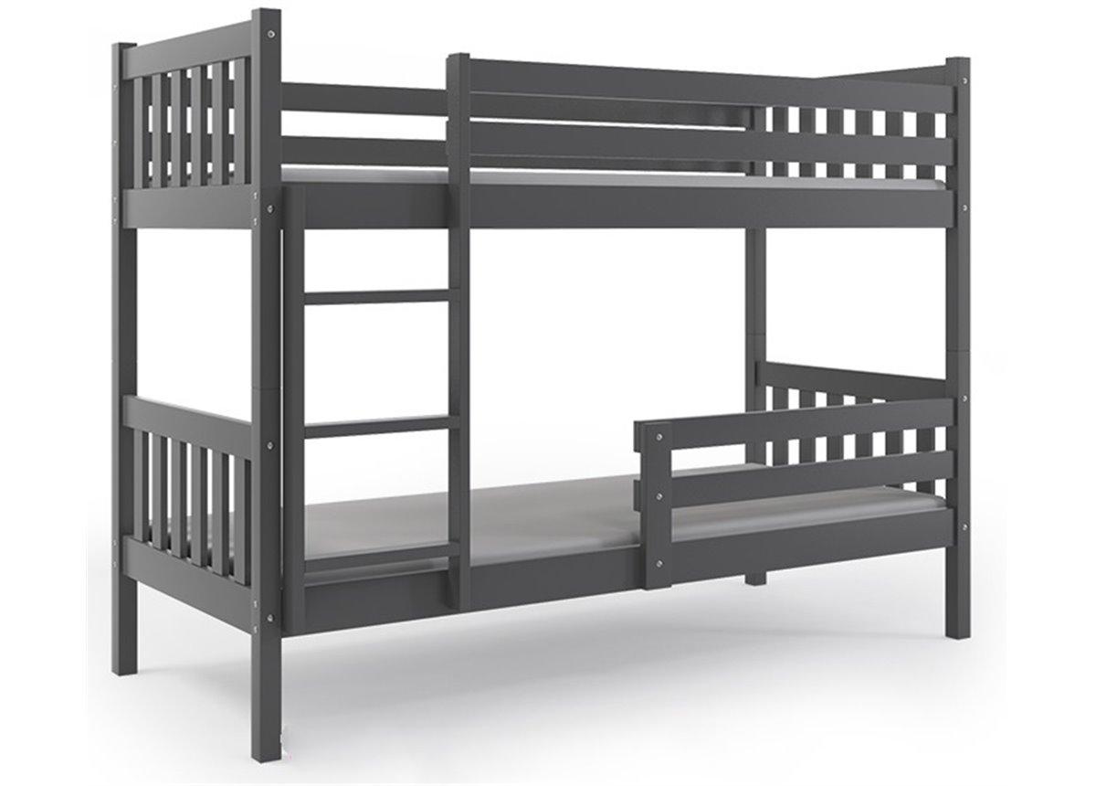 Распродажа Двухъярусная кровать + 2 матраса + бортик CARINOBunk no drawer BMS Group 90x200