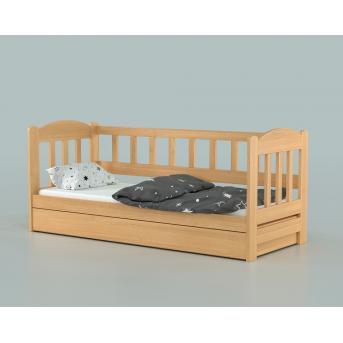 Кровать-диванчик Лео с подъемником (массив) Луна 80x160