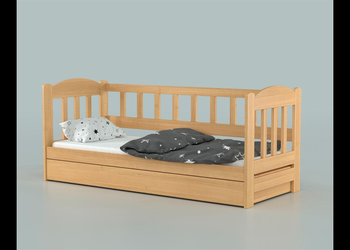 Кровать-диванчик Лео с подъемником (массив) Луна 90х190/200