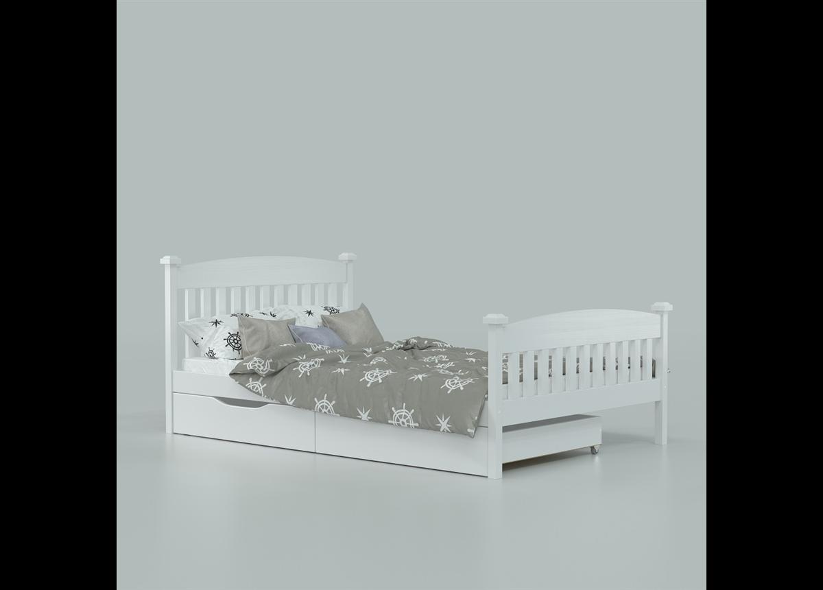 Кровать Фиби (массив) Луна 120x190/200