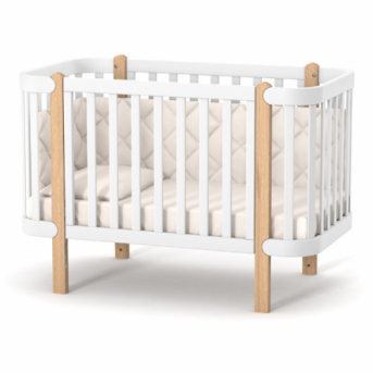 Кроватка Монако ЛД5 Верес 60x120 бело-буковый