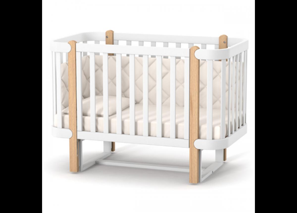 Кроватка с маятниковым механизмом Монако ЛД5 Верес 60x120 бело-буковый