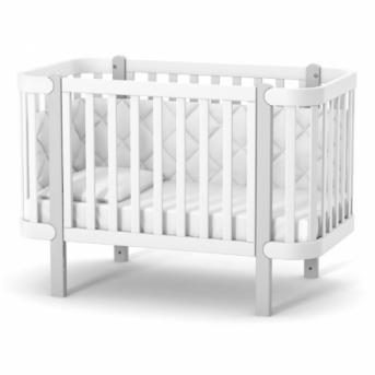 Кроватка Монако ЛД5 Верес 60x120 бело-серый