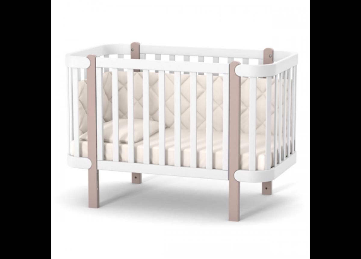 Кроватка Монако ЛД5 Верес 60x120 капучино-белый