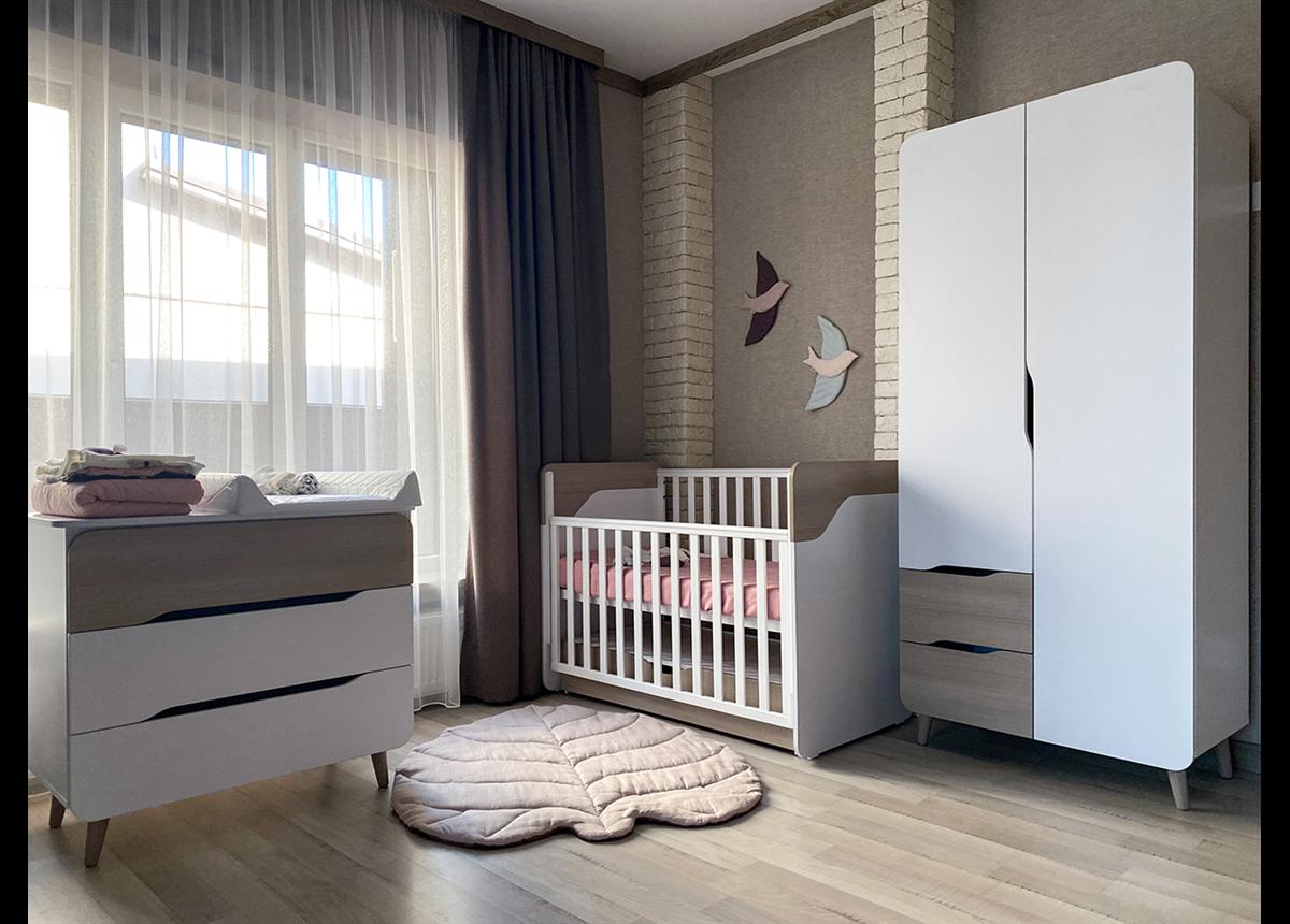 Комната для новорожденных Сидней Верес капучино-белый