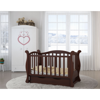 Распродажа Кроватка детская LUX6 диванчик Angelo 60x120 орех