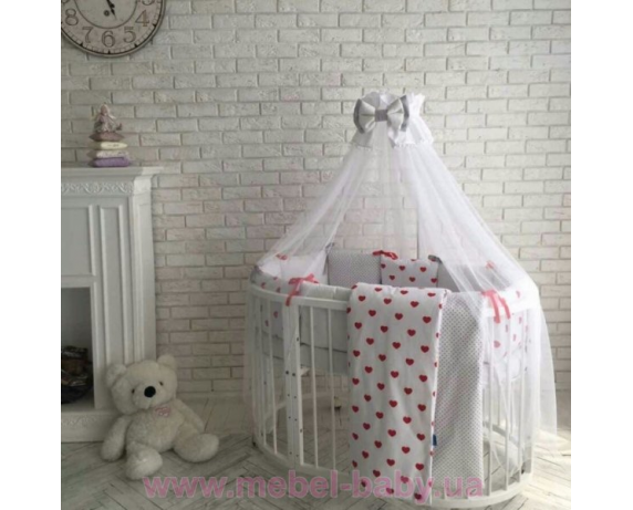 Распродажа Комплект Бейби дизайн красные сердечки (7 предметов)