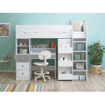 Кровать-чердак со столом ДМ 230 Fmebel 80х190