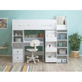 Кровать-чердак со столом Орландо Fmebel 80х190