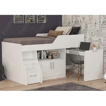 Кровать-чердак со столом ДК 54 Fmebel 80х190