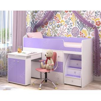 Кровать-чердак со столом ДМ 405 Fmebel 80х190