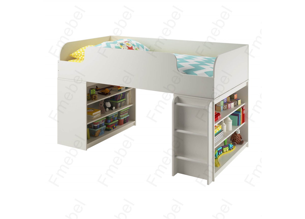 Кровать-чердак с игровой зоной КЧ 56 Fmebel 80х170
