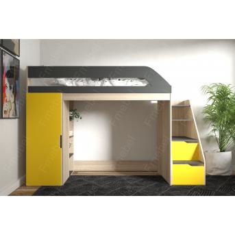 Кровать-чердак с игровой зоной Арканзас Fmebel 80х190
