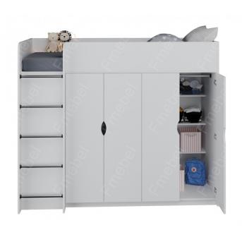 Кровать-чердак со шкафом ДКЧ 82 Fmebel 90x200