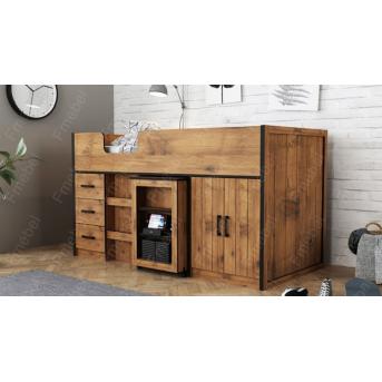 Кровать-чердак со шкафом Пекин Fmebel 90x190