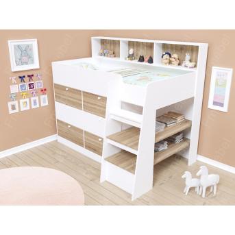 Кровать-чердак со шкафом ДК 825 Fmebel 80x190