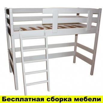 Распродажа Кровать-чердак низкая Снови Белая Ирель 150