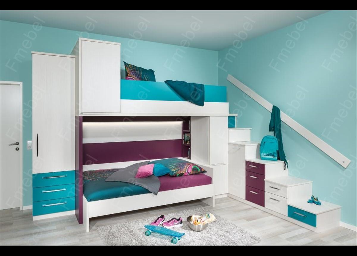 Двухъярусная кровать ДКЧ 94 Fmebel
