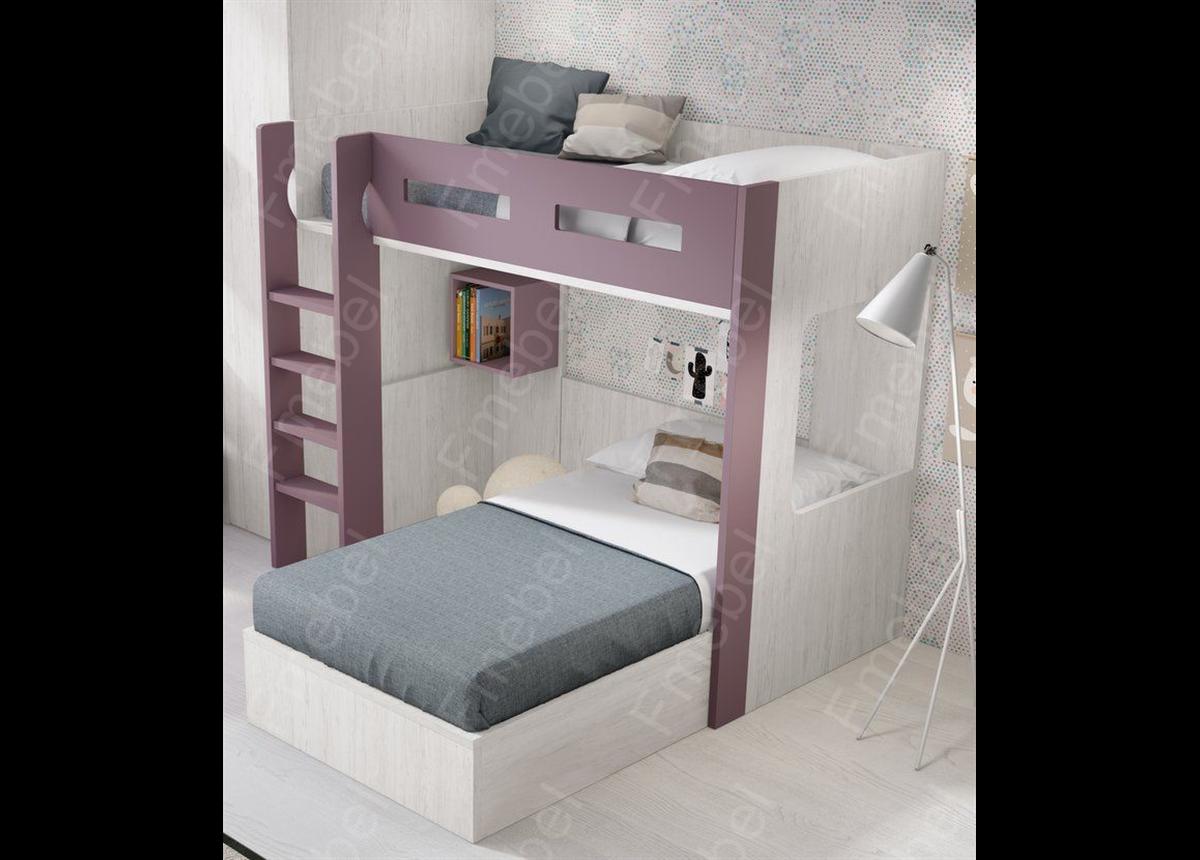 Двухъярусная кровать ДКЧ 651 Fmebel 90x200
