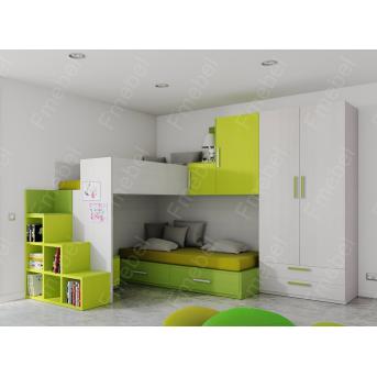 Двухъярусная кровать ДДК 11 Fmebel 80x190