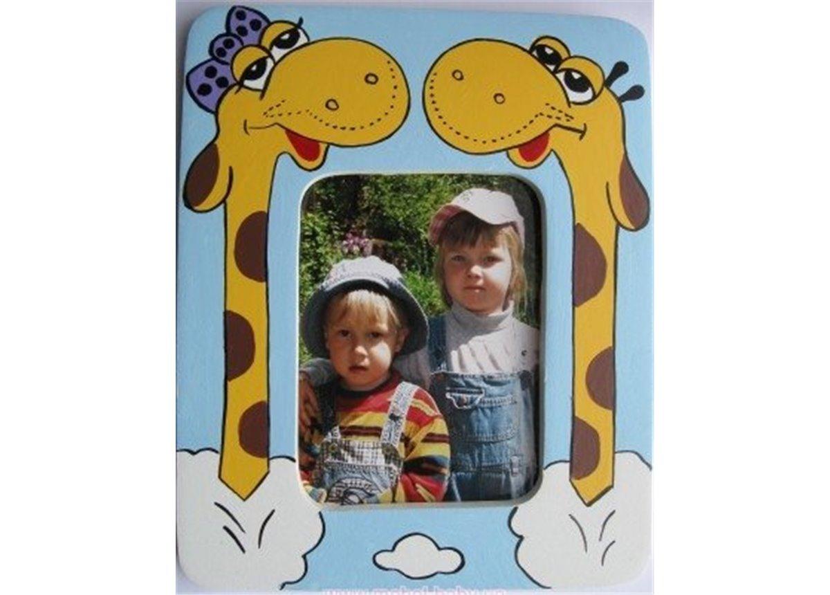 Распродажа Рамочка для фото Влюбленные жирафики