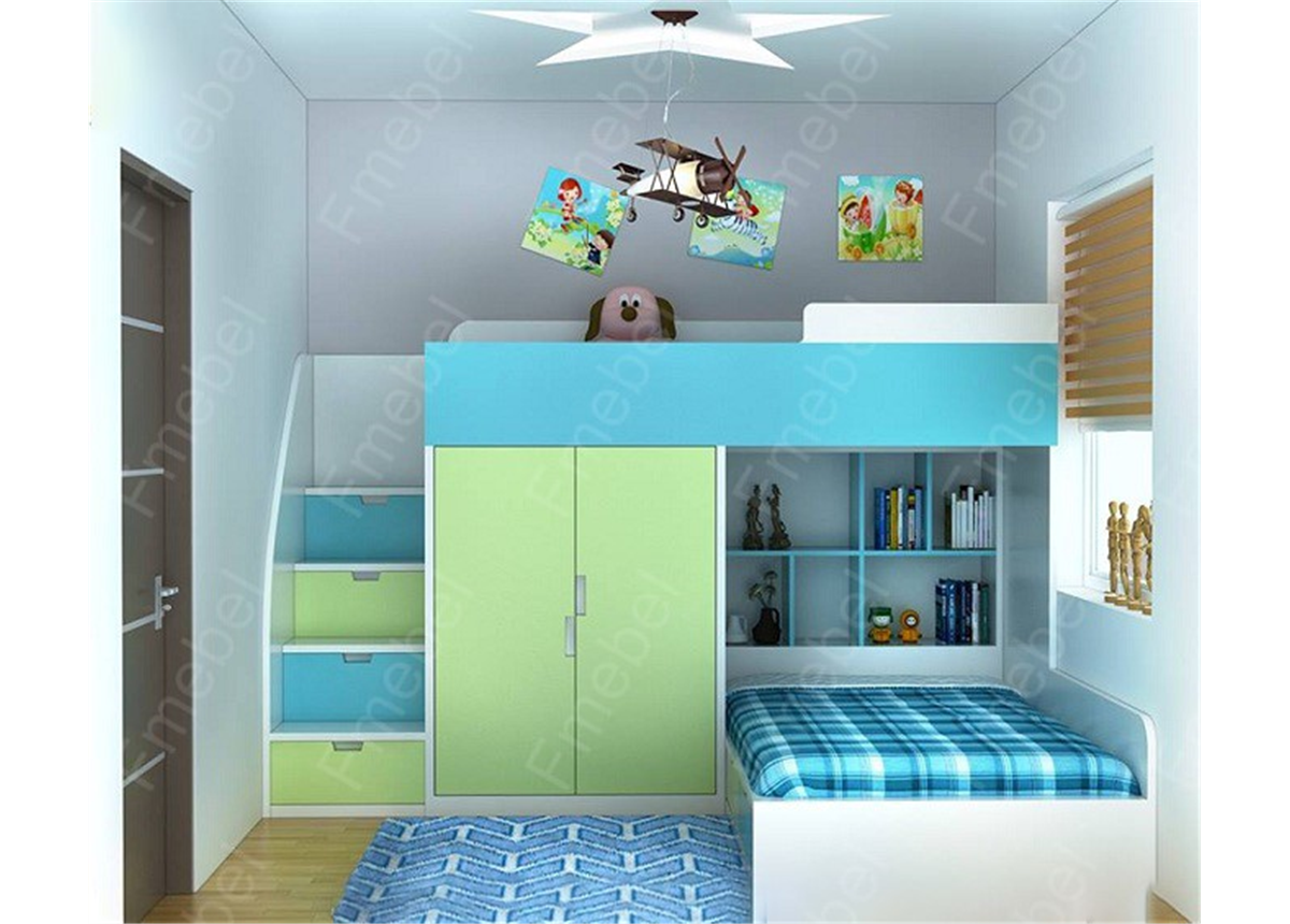 Двухъярусная кровать ДМ 719 Fmebel 80x190