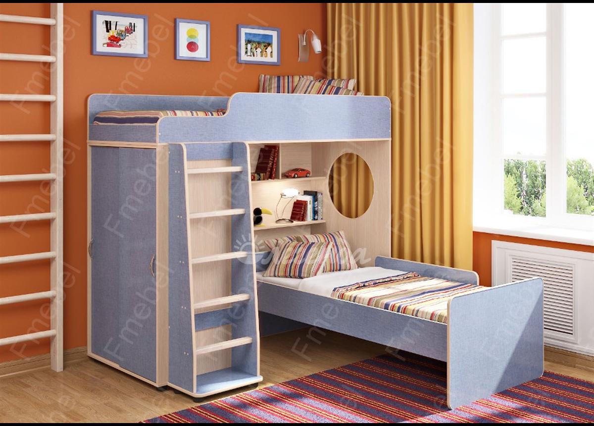 Двухъярусная кровать Легенда 5.5 Fmebel 80x190