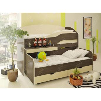 Двухъярусная кровать низкая Вашингтон Fmebel 80x190