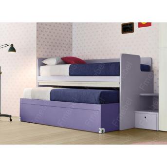 Кровать с дополнительным спальным местом Риверсайд Fmebel 80x190