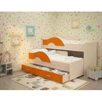 Двухъярусная кровать низкая Саванна Fmebel 80x160